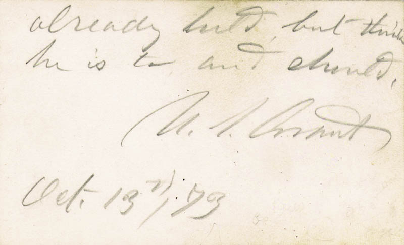 Image 1 for President Ulysses S. Grant - Autograph Note Signed 10/13/1873 - HFSID 5225