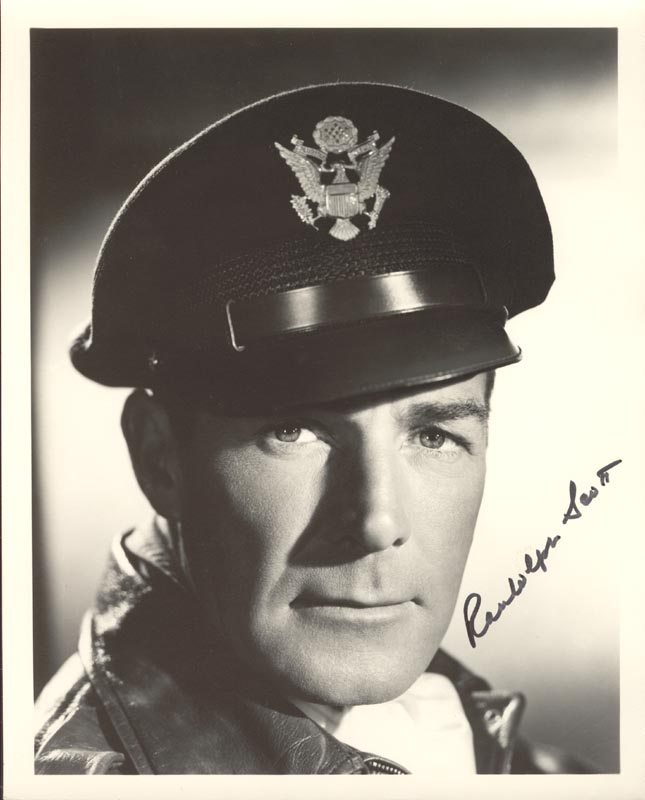 Image 1 for Randolph Scott - Autographed Signed Photograph - HFSID 52321