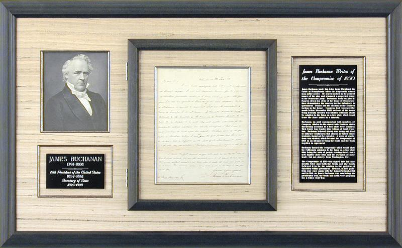 Image 1 for President James Buchanan - Autograph Letter Signed 01/12/1850 - HFSID 5234