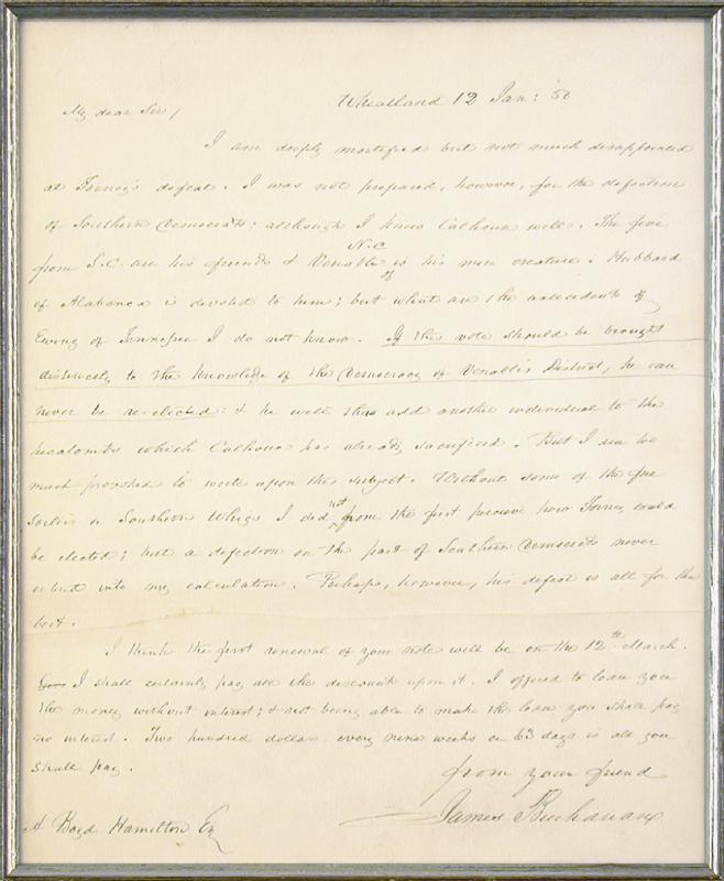 Image 3 for President James Buchanan - Autograph Letter Signed 01/12/1850 - HFSID 5234