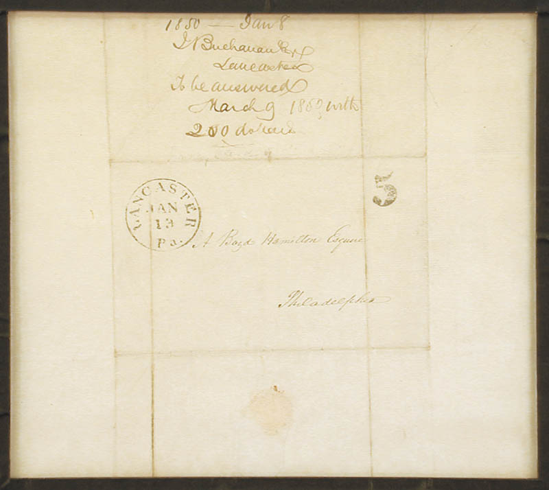 Image 4 for President James Buchanan - Autograph Letter Signed 01/12/1850 - HFSID 5234