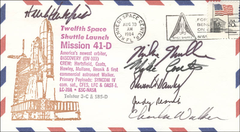 Image 1 for Judith A. 'Judy' Resnik - Commemorative Envelope Signed with co-signers - HFSID 52462