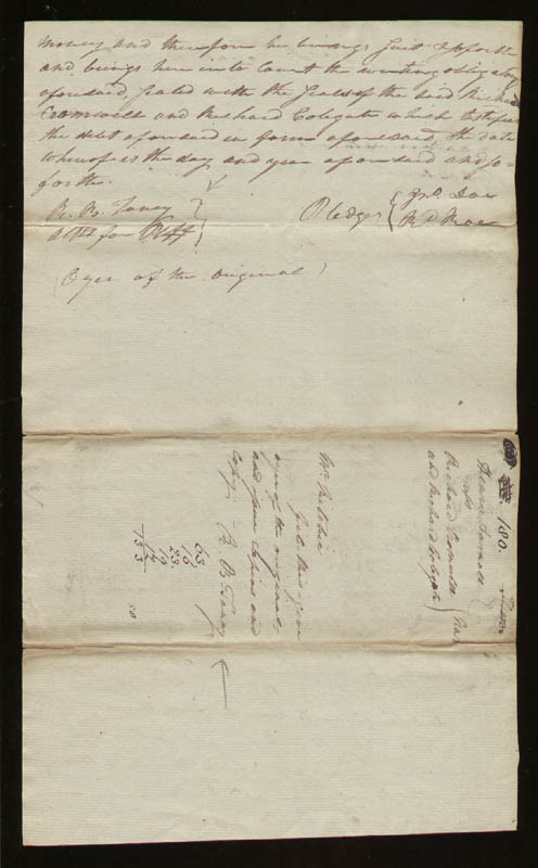 Image 1 for Chief Justice Roger B. Taney - Autograph Document Twice Signed 10/12/1799 - HFSID 52810
