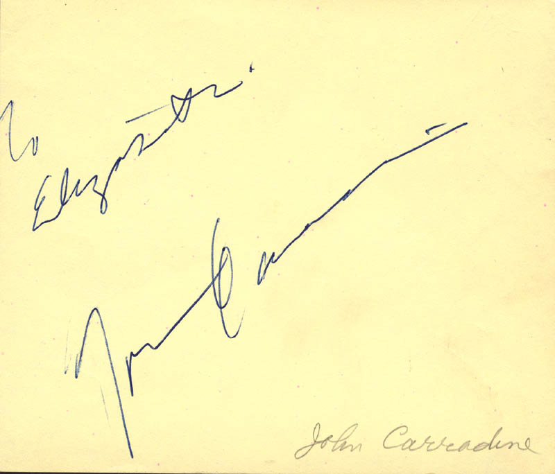 Image 1 for John Carradine - Inscribed Signature - HFSID 531