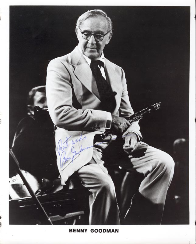 Image 1 for Benny Goodman - Autographed Signed Photograph - HFSID 53745