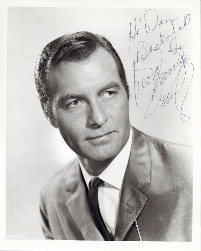 Image 1 for George Montgomery - Autographed Inscribed Photograph 1986 - HFSID 53834