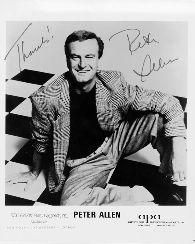 Image 1 for Peter Allen - Autographed Signed Photograph - HFSID 53889