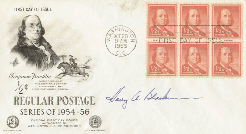 Image 1 for Associate Justice Harry A. Blackmun - First Day Cover Signed - HFSID 54243