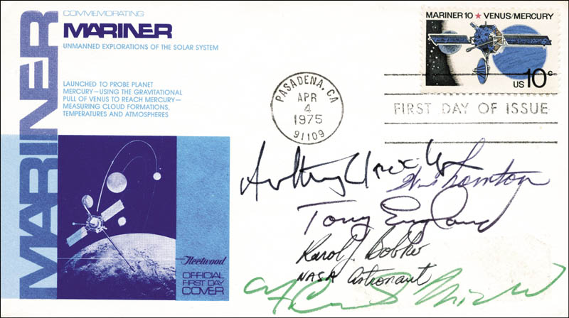 Image 1 for Colonel Karol J. Bobko - First Day Cover Signed with co-signers - HFSID 54257