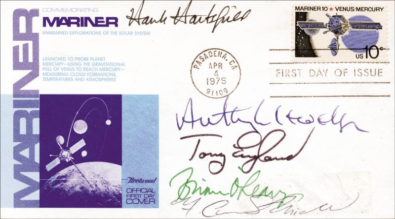 Image 1 for Colonel Henry 'Hank' Hartsfield Jr. - First Day Cover Signed with co-signers - HFSID 54258