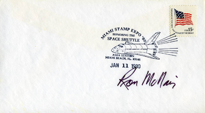 Image 1 for Ronald E. Mcnair - Commemorative Envelope Signed - HFSID 54273