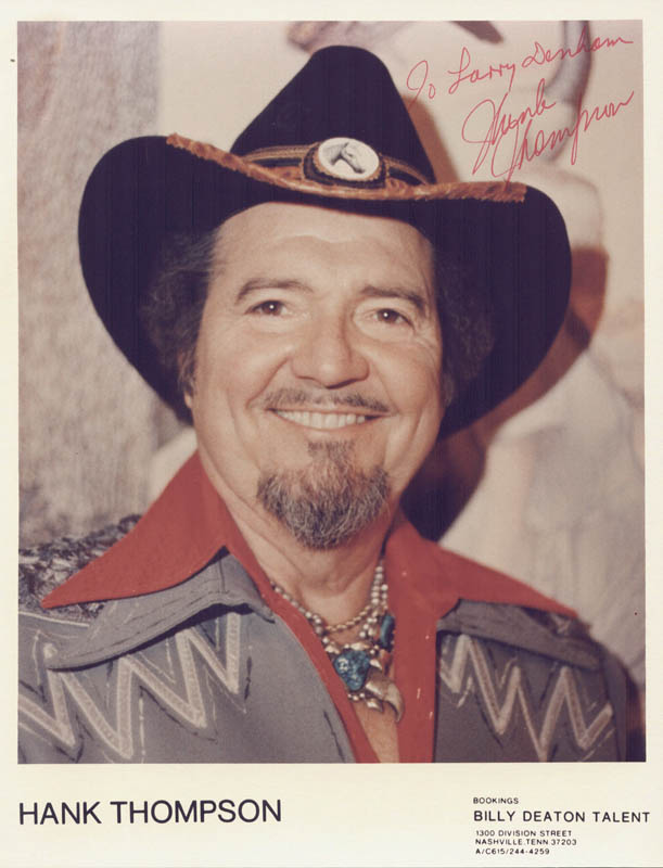 Image 1 for Hank Thompson - Autographed Inscribed Photograph - HFSID 54383