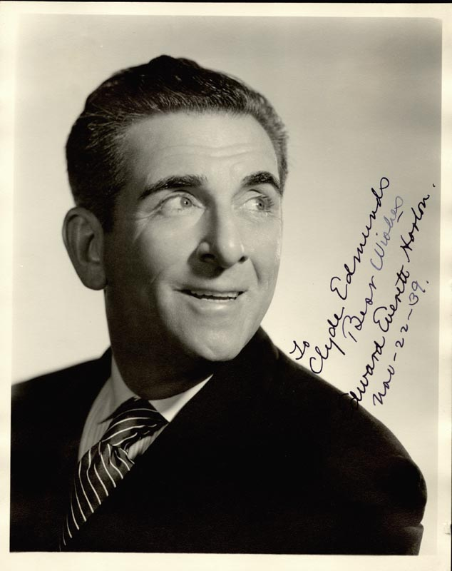 Image 1 for Edward Everett Horton - Autographed Inscribed Photograph 11/22/1939 - HFSID 54454