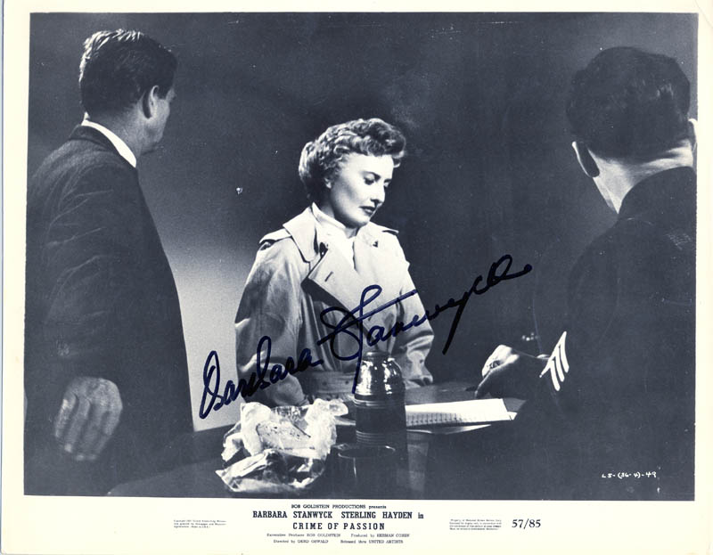 Image 1 for Barbara Stanwyck - Autographed Signed Photograph - HFSID 54471