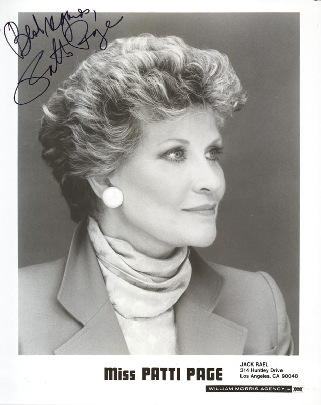 Image 1 for Patti Page - Autographed Signed Photograph - HFSID 54482