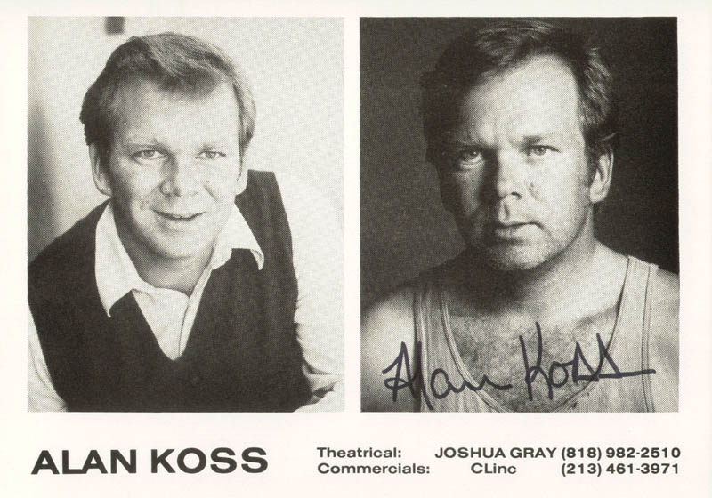 Image 1 for Alan Koss - Printed Photograph Signed In Ink - HFSID 54765