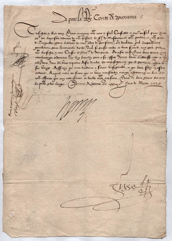 Image 1 for King Henry III (France) - Letter Signed 03/23/1578 - HFSID 54791