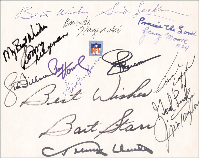 Image 1 for Hall Of Fame Football - Autograph with co-signers - HFSID 54866