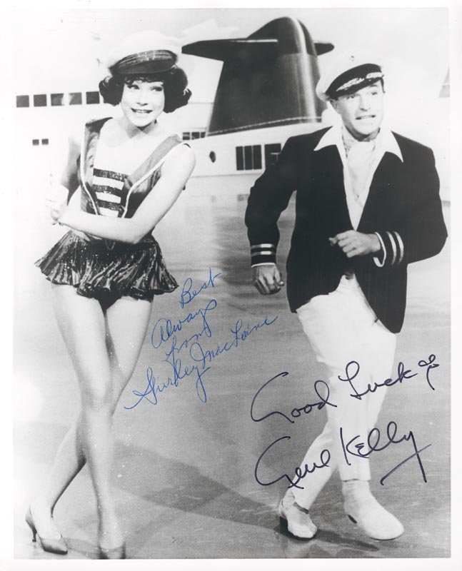 Image 1 for What A Way To Go Movie Cast - Autographed Signed Photograph co-signed by: Gene Kelly, Shirley Maclaine - HFSID 5506