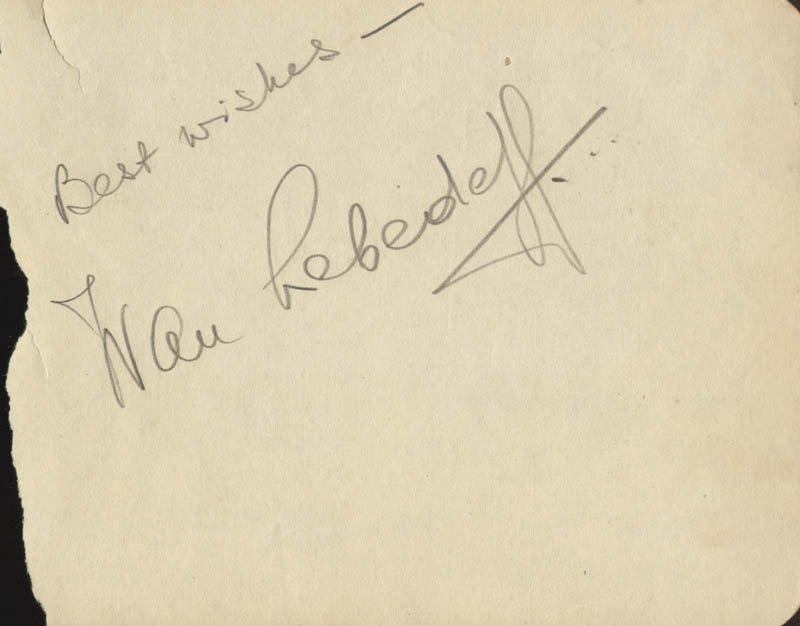 Image 1 for Ivan Lebedeff - Autograph Sentiment Signed - HFSID 55181