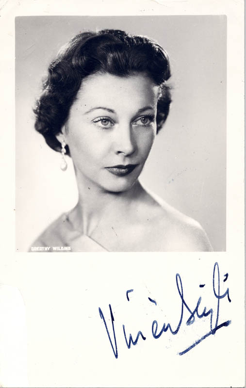 Image 1 for Vivien Leigh - Autographed Signed Photograph - HFSID 55219