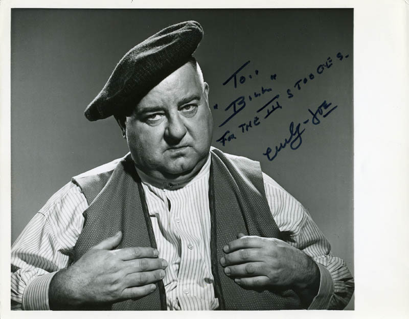 Image 1 for Three Stooges (Joe 'Curly-joe' De Rita) - Autographed Inscribed Photograph - HFSID 55286
