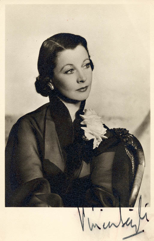 Image 1 for Vivien Leigh - Autographed Signed Photograph - HFSID 55303