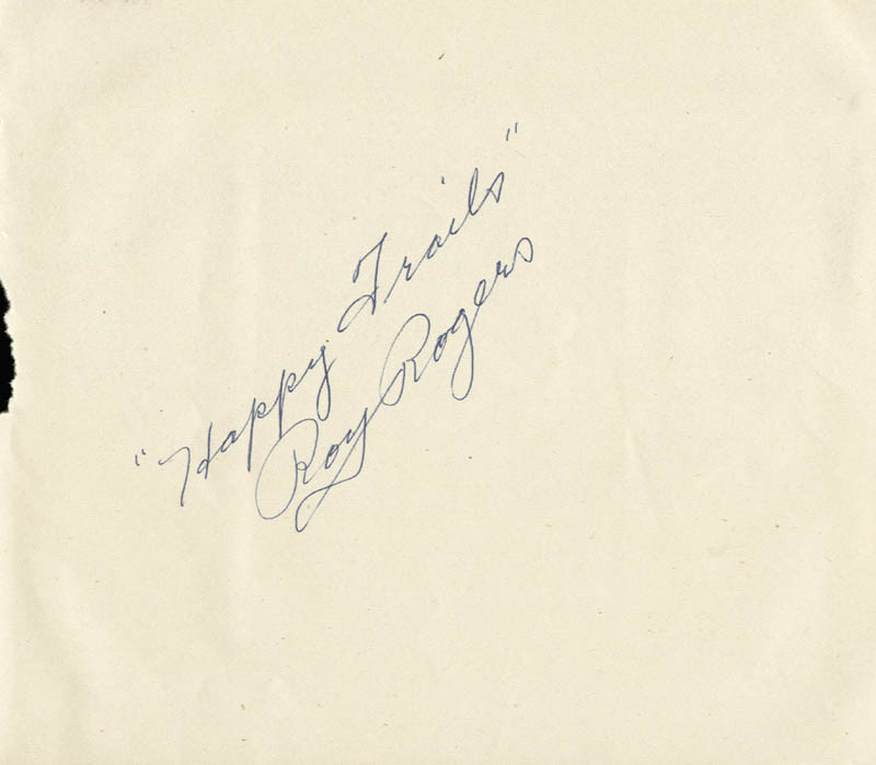 Image 1 for Roy Rogers - Autograph - HFSID 55366