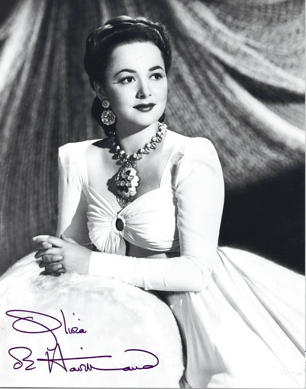 Image 1 for Olivia De Havilland - Autographed Signed Photograph - HFSID 55458