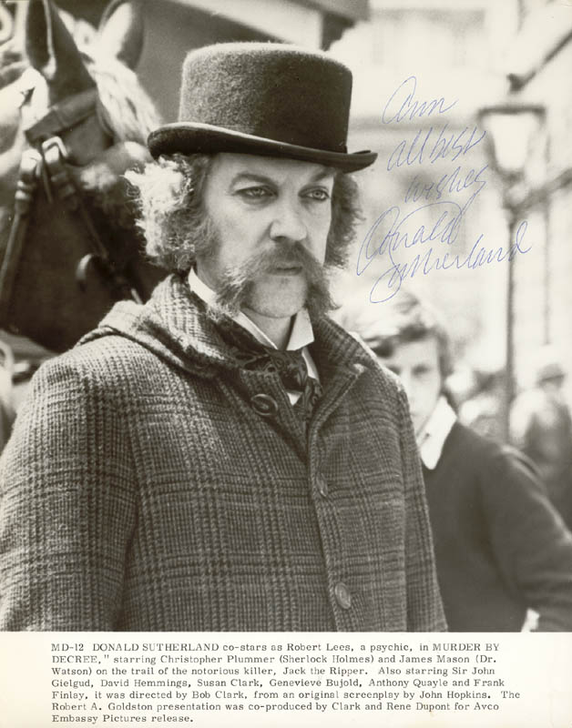 Image 1 for Donald Sutherland - Autographed Inscribed Photograph - HFSID 5554