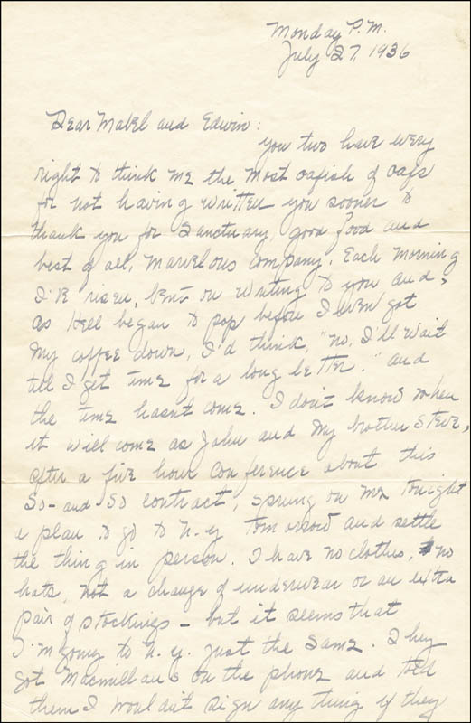 Image 3 for Margaret Mitchell - Autograph Letter Signed 07/27/1936 - HFSID 55643