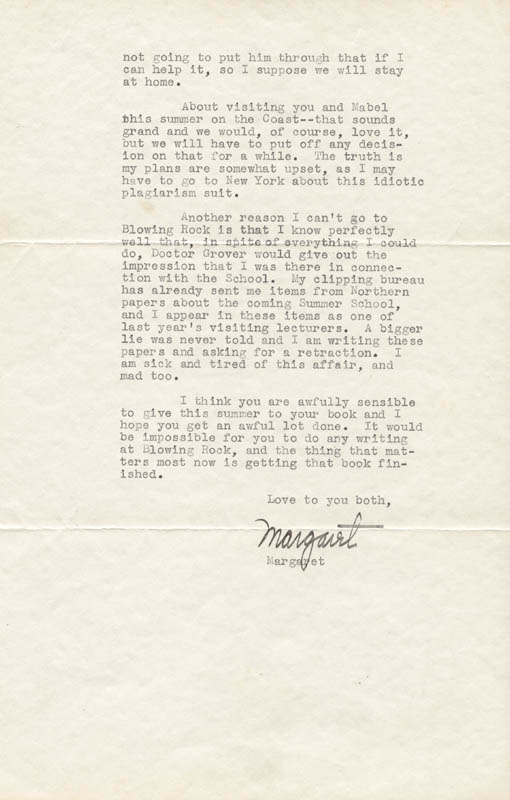 Image 1 for Margaret Mitchell - Typed Letter Signed 05/12/1937 - HFSID 55685