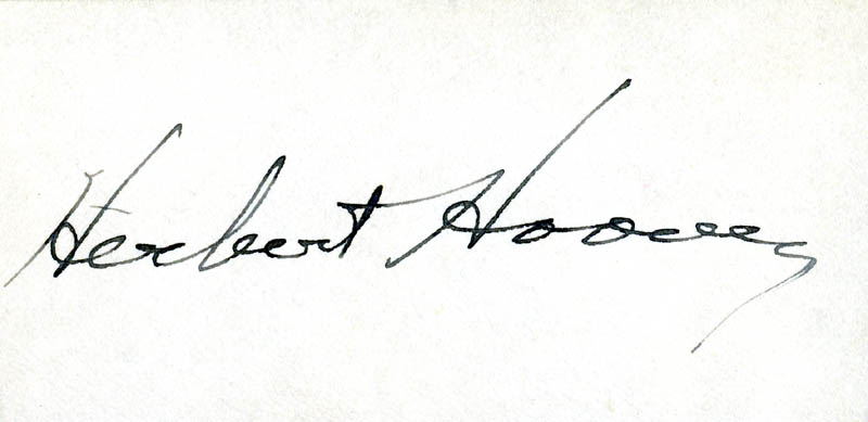 Image 1 for President Herbert Hoover - Autograph - HFSID 55823