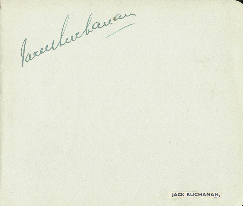 Image 1 for Jack Buchanan - Autograph co-signed by: Phyllis Dare - HFSID 55864
