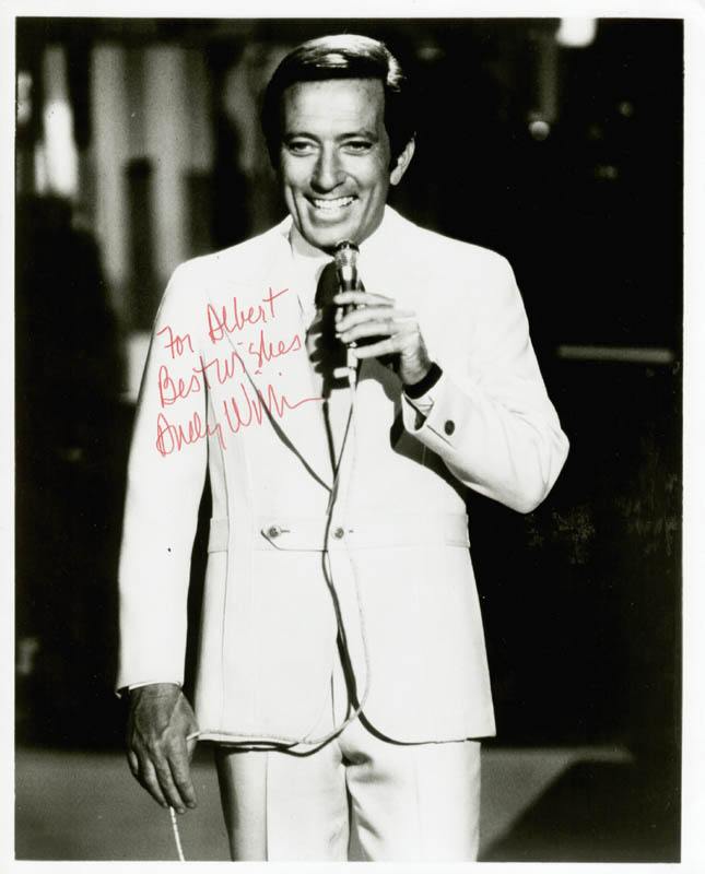Image 1 for Andy Williams - Autographed Inscribed Photograph - HFSID 55917