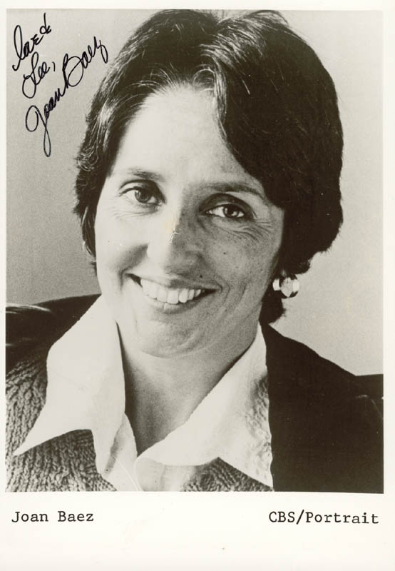 Image 1 for Joan Baez - Autographed Inscribed Photograph - HFSID 55924