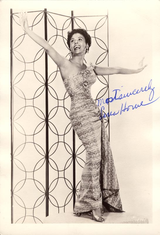 Image 1 for Lena Horne - Autographed Signed Photograph - HFSID 55925