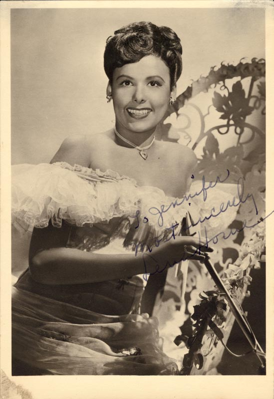 Image 1 for Lena Horne - Autographed Inscribed Photograph - HFSID 55926