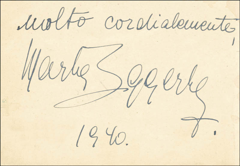 Image 1 for Jascha Heifetz - Autograph Note Signed 1940 co-signed by: Florence Heifetz, Marta Eggerth - HFSID 56018