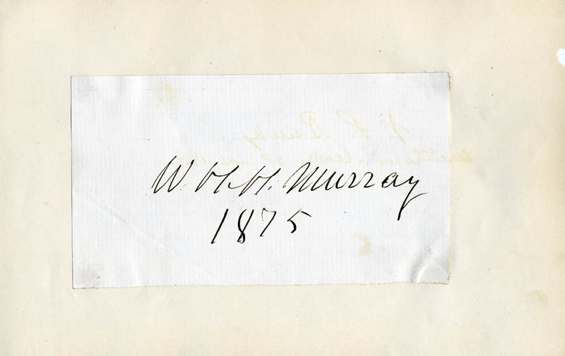 Image 1 for William H. H. Murray - Autograph 1875 - HFSID 56777