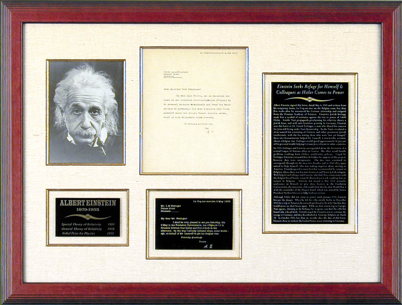 Image 1 for Albert Einstein - Typed Letter Signed 05/04/1933 - HFSID 56956