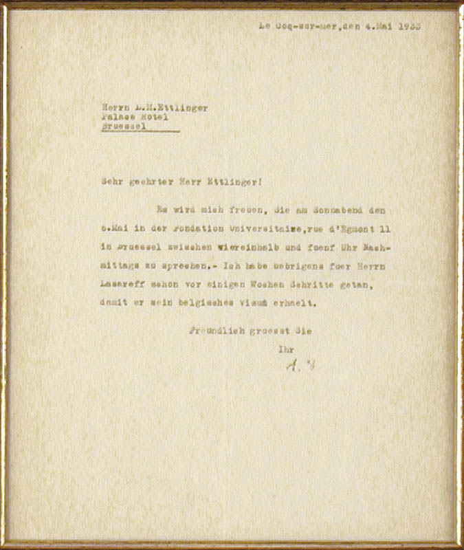 Image 3 for Albert Einstein - Typed Letter Signed 05/04/1933 - HFSID 56956