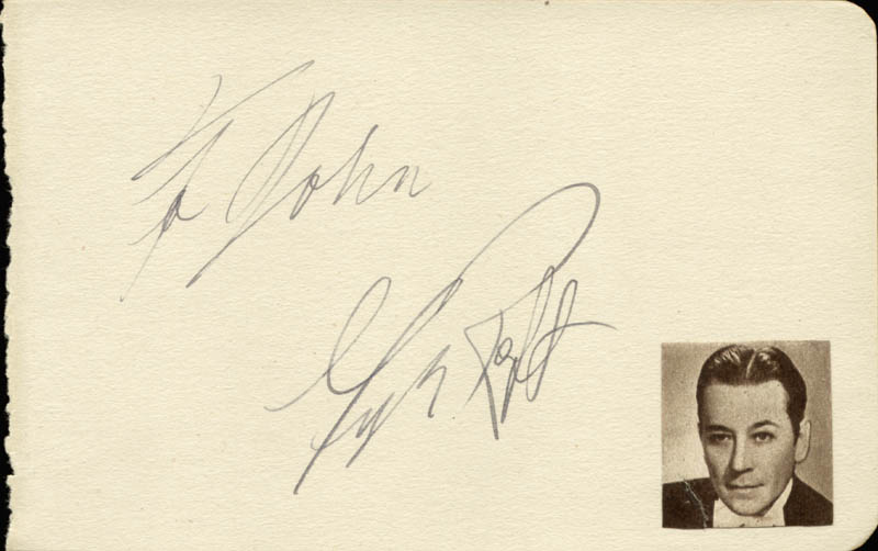 Image 1 for George Raft - Inscribed Signature - HFSID 57067