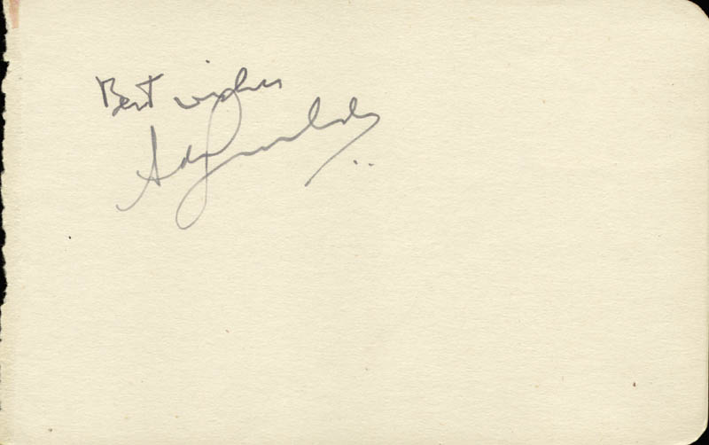 Image 3 for George Raft - Inscribed Signature - HFSID 57067
