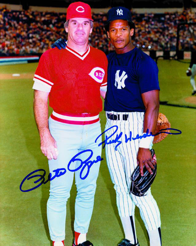 Image 1 for Pete Rose - Autographed Signed Photograph co-signed by: Rickey Henderson - HFSID 57124
