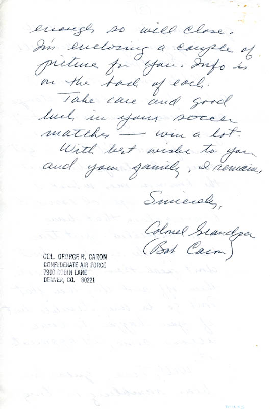 Image 1 for Enola Gay Crew (George R. Caron) - Autograph Letter Signed 10/12/1979 - HFSID 5718