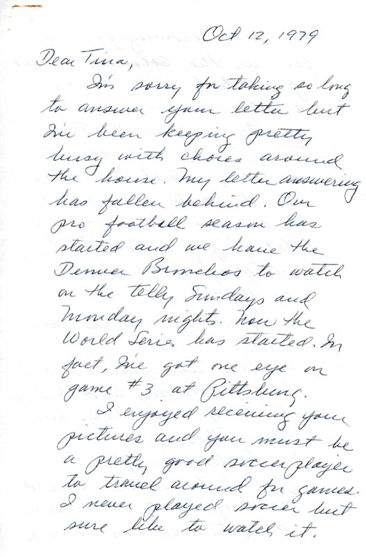 Image 3 for Enola Gay Crew (George R. Caron) - Autograph Letter Signed 10/12/1979 - HFSID 5718