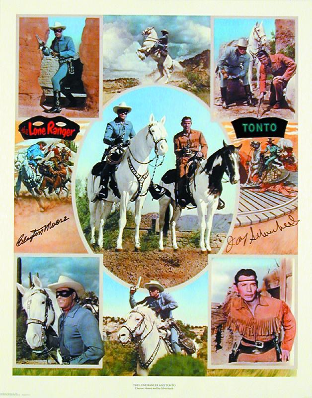 Lone Ranger Tv Cast Autographed Signed Poster Co Signed By Clayton The Lone Ranger Moore Jay Tonto Silverheels Historyforsale Item 57419