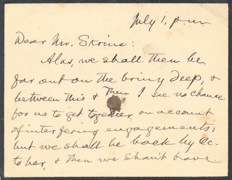 Image 1 for Samuel L. 'Mark Twain' Clemens - Autograph Letter Signed 07/01 - HFSID 5745