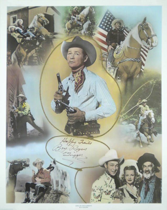 ROY ROGERS - POSTER SIGNED - HFSID 58287